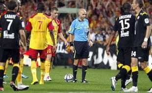 L'arbitre de Lille Lens, Tony Chapron, le 11 septembre 2010