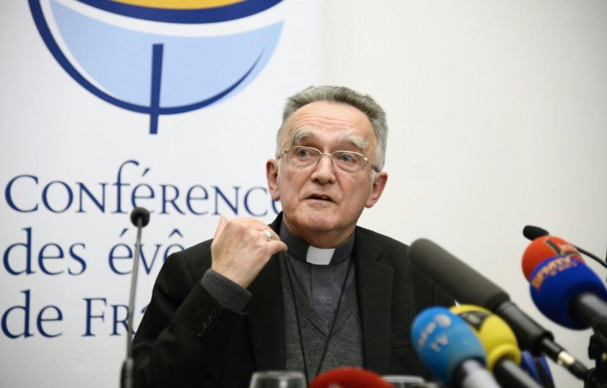 Mgr Pontier,archevêque de Marseille etPrésident de la Conférence des évêques de France. – BERTRAND GUAY