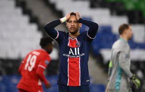Neymar a tapé deux fois les poteaux et raté d'autres occasions lors de PSG-Bayern le 13 avril 2021.