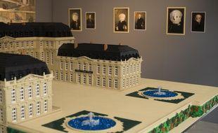 Vue de l'exposition Histoire en briques à Rueil-Malmaison en partenariat avec Lego