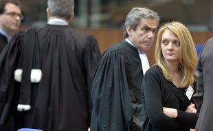 Rachel Lambert, qla femme de Vincent Lambert, hospitalisé en unité de soins palliatifs au CHU de Reims, lors de l'audience à la Cour européenne des droits de l'Homme, à Strasbourg, le 5 juin 2015.