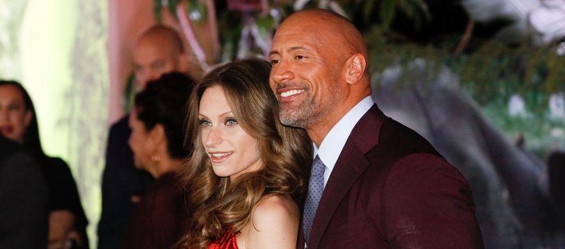 L'acteur Dwayne Johnson et sa femme Lauren Hashian