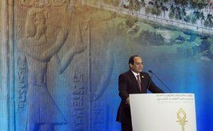 Le président egyptien Abdel Fatah al-Sissi à Sharm el-Sheikh en Egypte, le 13 mars 2015