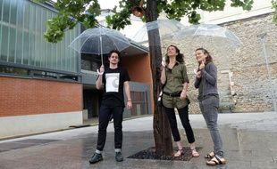 L'Arbre de pluie, le projet urbain des frères Bertin, située au square Schwartzenberg à Paris 10e, le 11 juillet.
