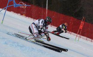 Mathieu Faivre a été sacré champion du monde de slalom parallèle, le 16 février 2021.