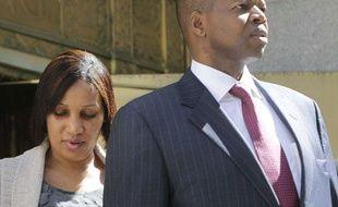 Nafissatou Diallo et son avocat Kenneth Thompson à New York, le 22 août 2011.