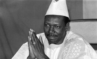 Moussa Traoré, l'ancien président du Mali, le 31 décembre 1985 à Bamako.