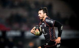 L'arrière du Stade Toulousain Clément Poitrenaud lors du match de Top 14 contre La Rochelle, le 10 janvier 2015 au stade Ernest-Wallon de Toulouse.