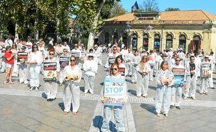 Le happening de Stop Vivisection.