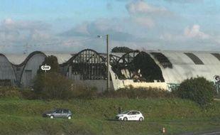 L'entrepôt dévasté de la société Oural à Bouguenais.