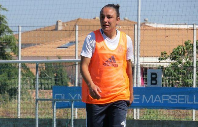 Sandrine Brétigny à l'entraînement, en mai 2017.