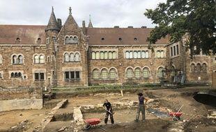 Un chantier de fouilles archéologique est en cours au musée Dobrée de Nantes