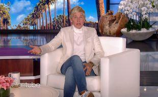 L'animatrice Ellen DeGeneres lors du lancement de la nouvelle saison de son talk-show