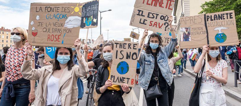 Marche pour le climat à Lyon le 9 mai 2021.