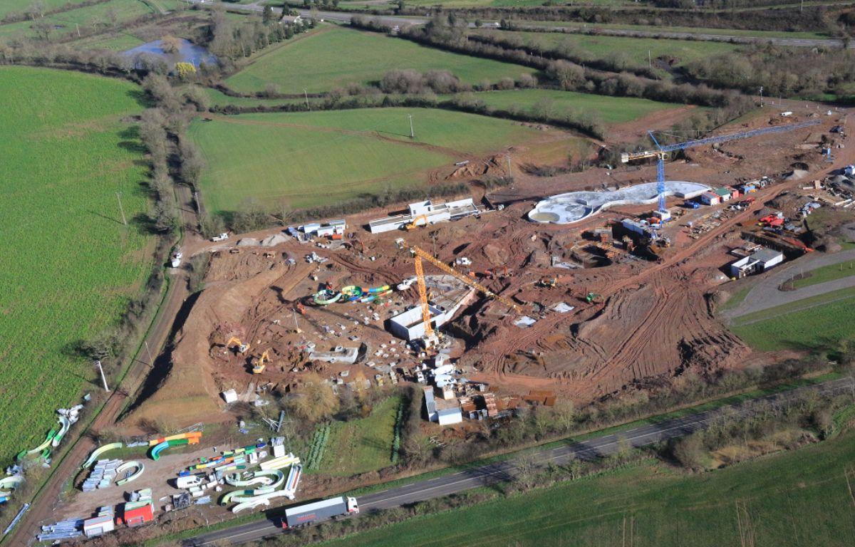 Le chantier de construction de O'Gliss park sur la commune des Moutiers-les-Mauxfaits. – O'Gliss Park