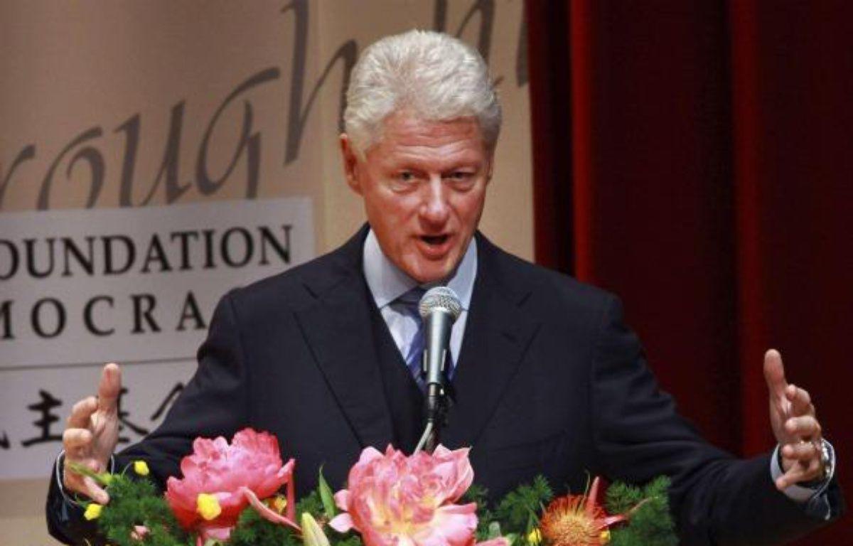 Bill Clinton lors d'une conférence à Taïwan le 14 novembre 2010 – AP / SIPA