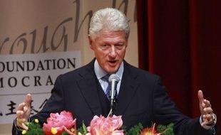 Bill Clinton lors d'une conférence à Taïwan le 14 novembre 2010