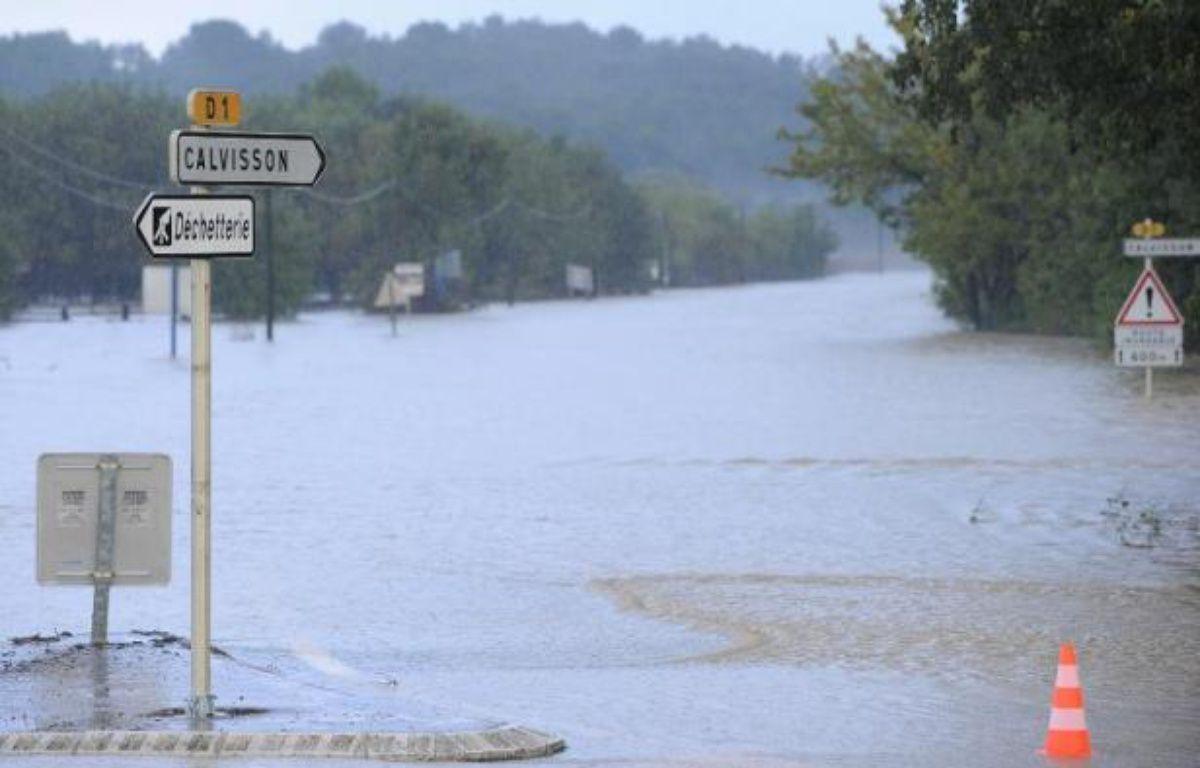 Inondations à Calvissom, dans le Gard, le 15 novembre 2014 – Sylvain Thomas AFP