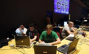 Une conférence de hackers, en Allemagne, en juillet 2010.