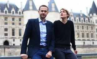 David Belliard, ex-candidat EELV aux élections municipales de Paris 2020 et Alice Coffin, élue EELV dans le 12e arrondissement.