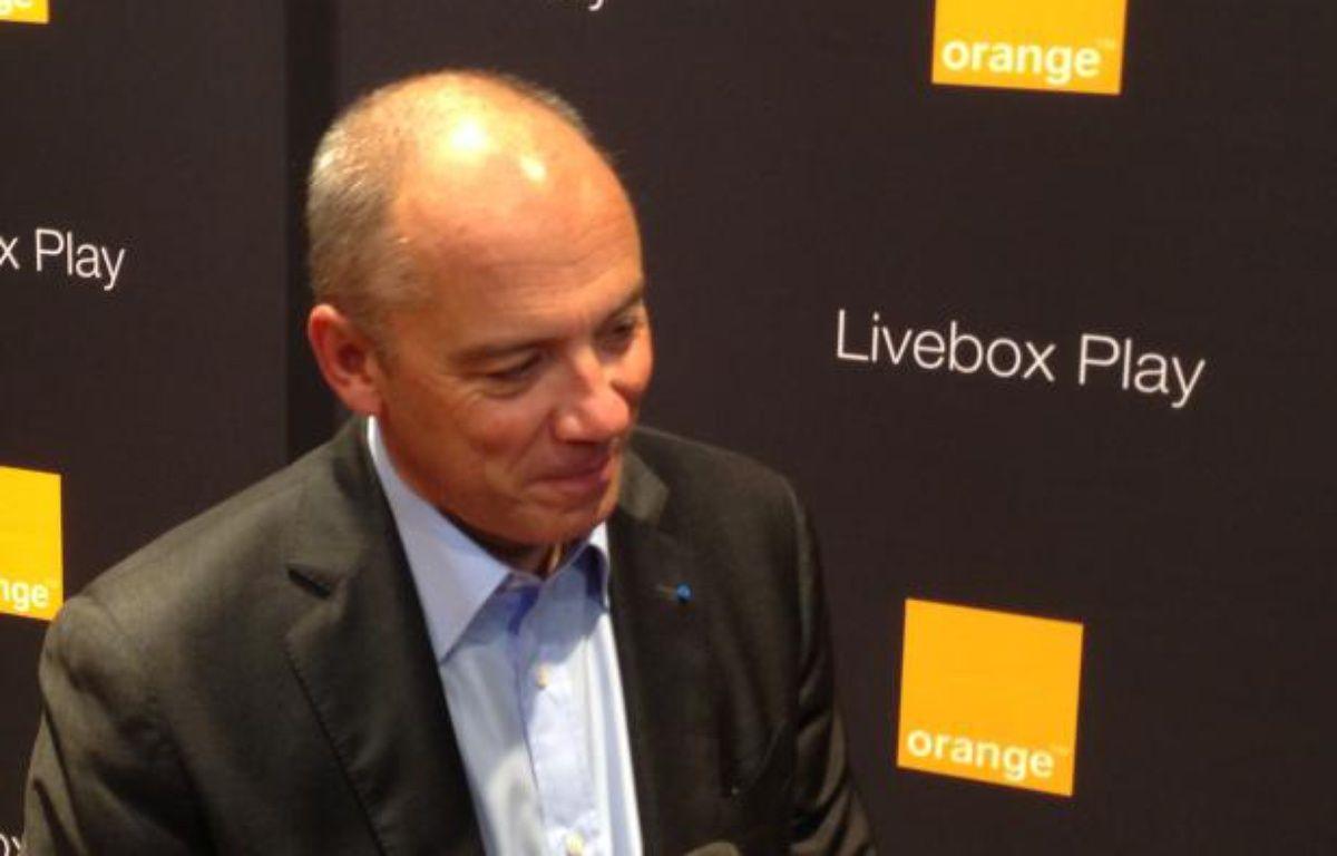 Stéphane Richard lors du lancement de la Livebox Play, le 31 janvier 2013 à Paris. – C.SEFRIN/20 MINUTES