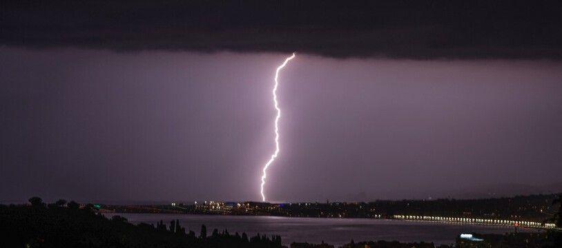 L'orage sur Nice le 8 juin dernier.