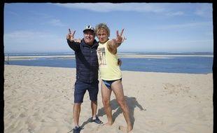 Le réalisateur Fabien Onteniente et Franck Dubosc sur le tournage de Camping 3