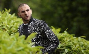 L'attaquant de l'équipe de France Karim Benzema à Clairefontaine, le 4 juin 2014.