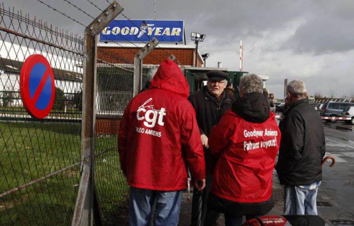 Devant l'usine Goodyear à Amiens. – Michel Spingler/AP/SIPA