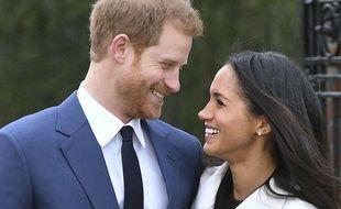 Le prince Harry et sa fiancée, Meghan  Markle le 27 novembre 2017.