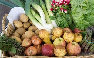 Illustration d'un panier de légumes