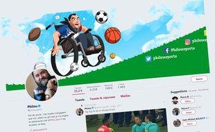 Sur Twitter, le compte de Philousports est suivi par de nombreux amateurs de sport.