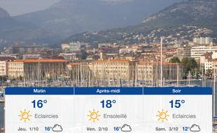 Météo Toulon: Prévisions du mercredi 30 septembre 2020