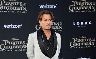 L'acteur Johnny Depp à la première de Pirate Des Caraïbes, à Los Angeles, mai 2017.
