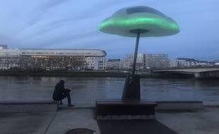 Un nouveau mobilier urbain pour symboliser la qualité de l'air a été installée sur l'île de Nantes en décembre 2019