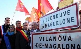 Noël Ségura (àdroite sur la photo) : «L'occitan est une grande partie de notre culture».