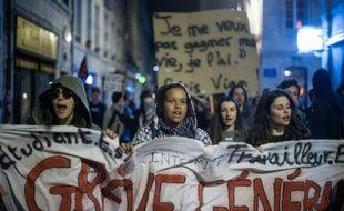 Manifestation de jeunes le 14 avril 2016 à Besancon