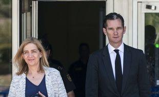 Inaki Urdangarin et sa femme Cristina de Bourbon en juin 2016.