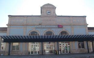 La gare de Vesoul, devant laquelle se sont déroulés les faits.
