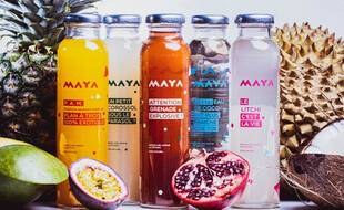 La gamme de jus de fruits Maya Drink