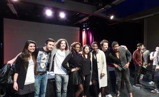 Les participants aux quarts de finale du concours Eloquentia, à l'université Paris VIII de Saint-Denis.