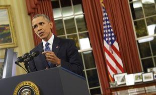 Barack Obama s'adresse aux Américains depuis le Bureau ovale de la Maison Blanche, le 6 décembre 2015.