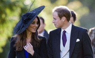 Le Prince William et Kate Middleton lors d'un mariage dans le Gloucestershire, le 23 octobre 2010.
