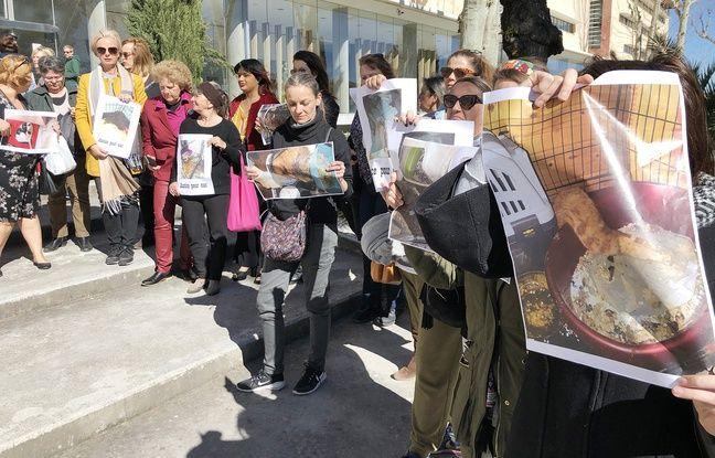 Des associations étaient réunies devant le palais de justice de Grasse