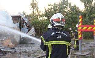 Illustration du traitement d'un incendie.