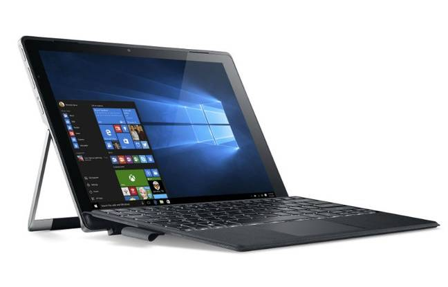 Le Switch Alpha de Acer: un PC à écran de 12 pouces détachable qui fait office de tablette poiur le divertissement.