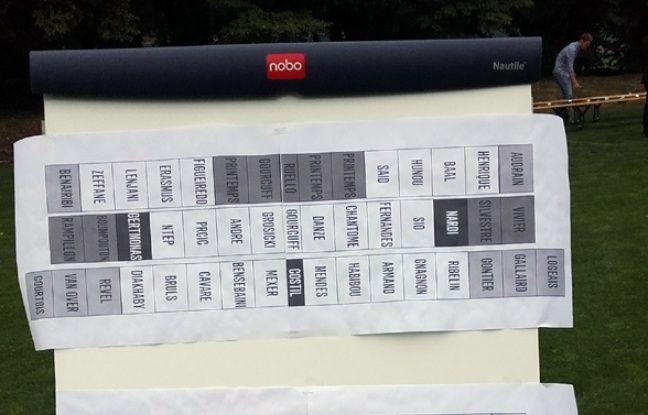 Le «plan de table» imaginé par Sébastien Guéguen.