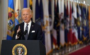 Le président américain Joe Biden a fait le point sur la lutte contre le coronavirus depuis la Maison Blanche, le 11 mars 2021.