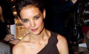 Katie Holmes le 24 février 2011 lors de la fashion week à Milan, au défilé Max Mara