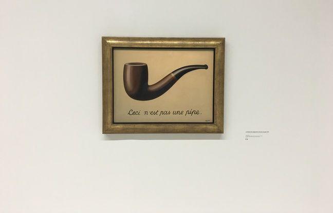 L'exposition Magritte, la trahison des images au Centre Pompidou à Paris en septembre 2016